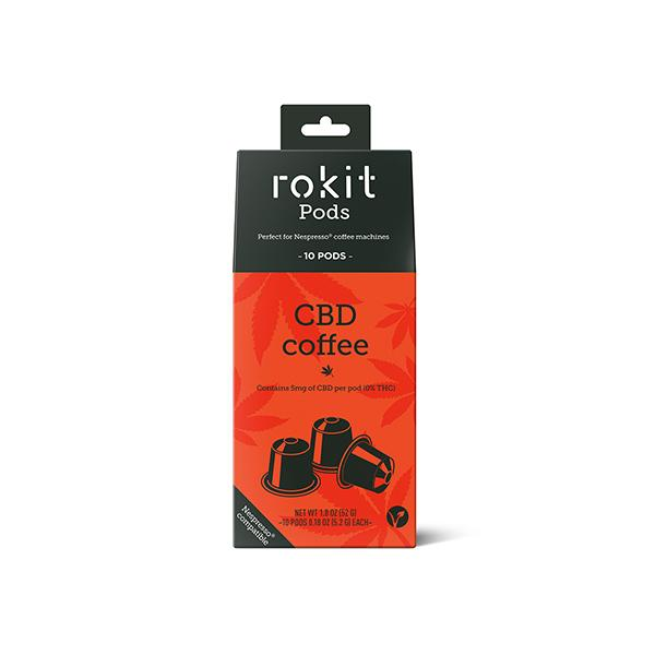 Rokit Pods CBD Coffee 5mg Nespresso Pods - Flavourclouds Discount Vape