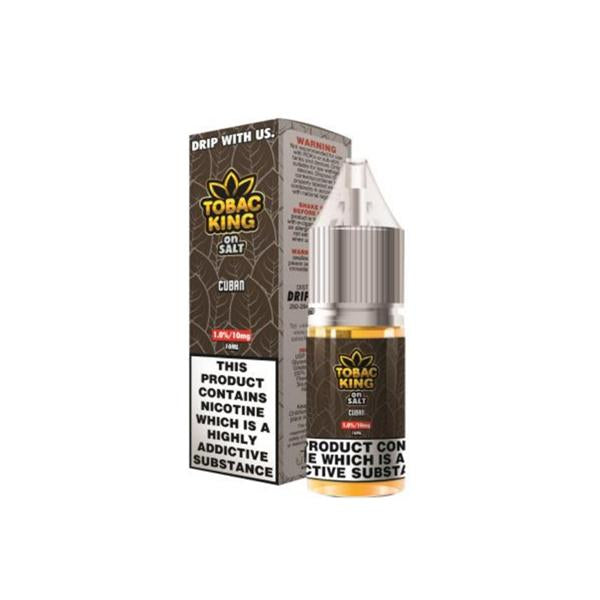 20MG Tobac King On Salt 10ML Flavoured Nic Salt (50VG/50PG) - Flavourclouds Discount Vape