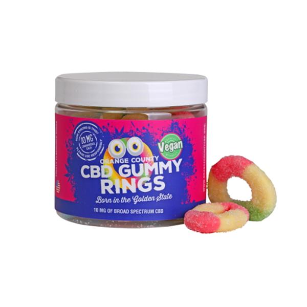 Orange County CBD 10mg Gummy Rings - Small Pack - Flavourclouds Discount Vape