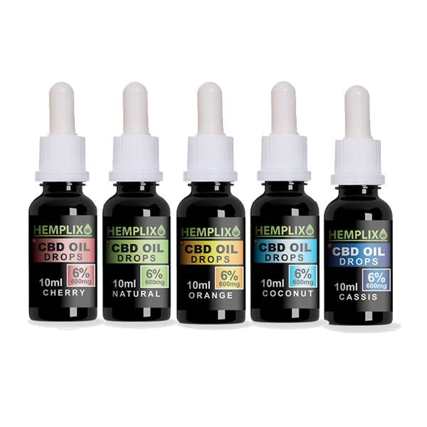 Hemplix 6% 600mg Flavoured CBD Oil 10ml - Flavourclouds Discount Vape