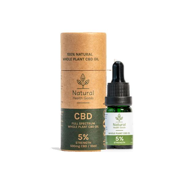 Natural Health Goods Full Spectrum 500mg CBD Oil 10ml - Flavourclouds Discount Vape