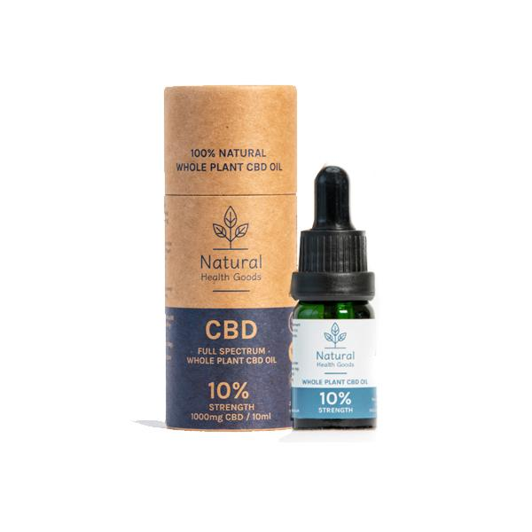 Natural Health Goods Full Spectrum 1000mg CBD Oil 10ml - Flavourclouds Discount Vape