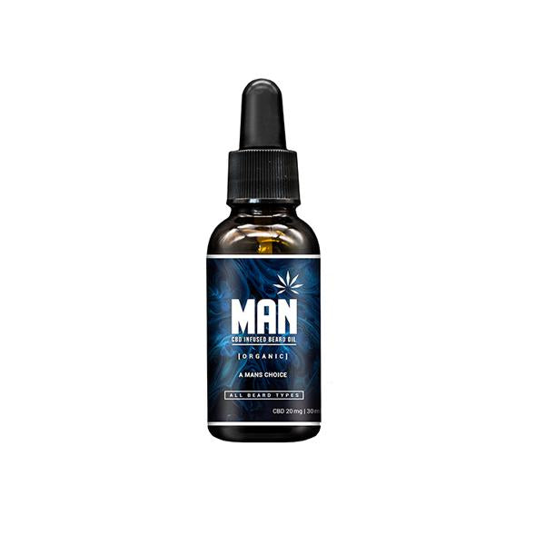 MAN 20mg CBD infused Beard Oil 30ml - Flavourclouds Discount Vape