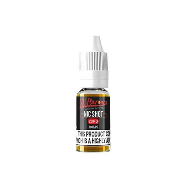 UK Flavour Nic Shot 20mg 10ml (100PG) - Flavourclouds Discount Vape