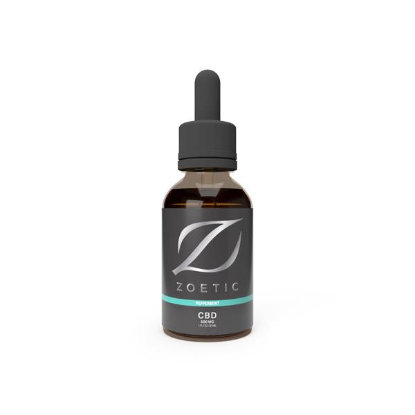 Zoetic 500mg CBD Oil 30ml - Refreshing Peppermint - Flavourclouds Discount Vape