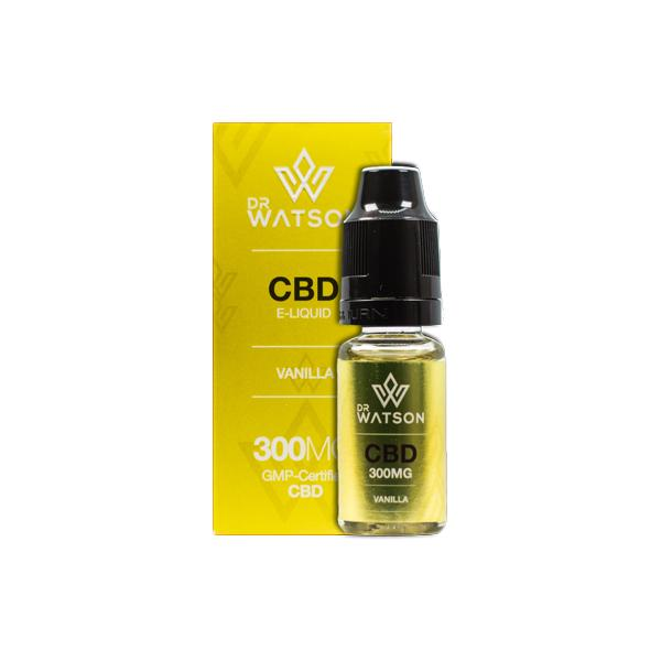 Dr Watson 300mg CBD Vaping Liquid 10ml - Flavourclouds Discount Vape