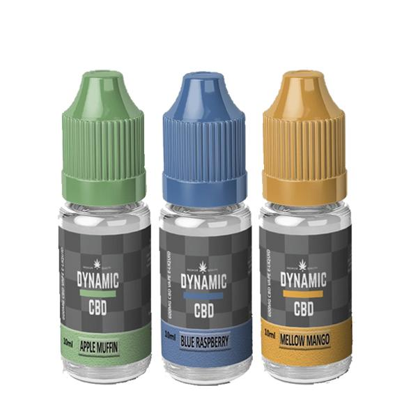 Dynamic CBD 600mg E-liquid 10ml - Flavourclouds Discount Vape