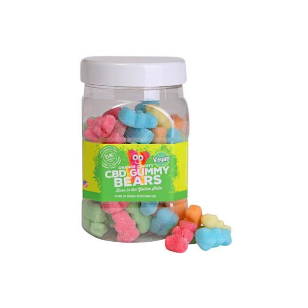 Orange County CBD 25mg Gummy Bears - Large Pack - Flavourclouds Discount Vape