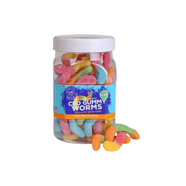 Orange County CBD 25mg Gummy Worms - Large Pack - Flavourclouds Discount Vape