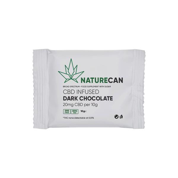 Naturecan 20mg CBD Infused Dark Chocolate 10g - Flavourclouds Discount Vape