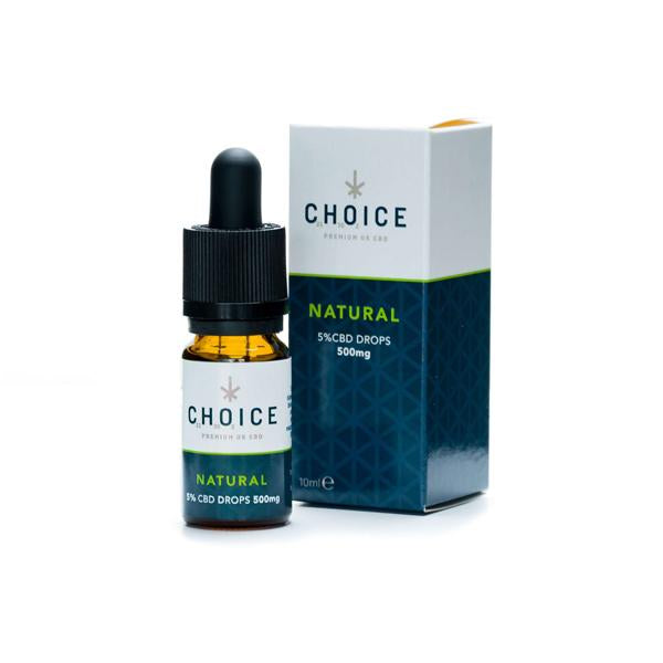 Choice 500mg CBD Natural Oil Drops 10ml - Flavourclouds Discount Vape