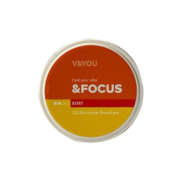 V&YOU &Focus 6mg Nicotine Infused Pouches - Flavourclouds Discount Vape