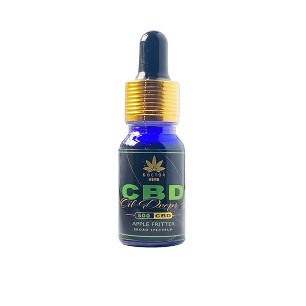 Doctor Herb 500mg CBD Broad Spectrum Flavoured Oil 10ml - Flavourclouds Discount Vape