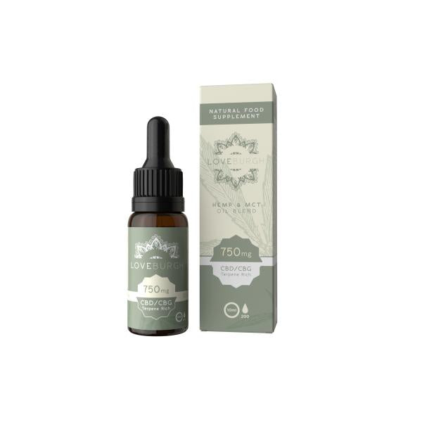 Loveburgh 750mg MCT CBD Oil 10ml - Flavourclouds Discount Vape