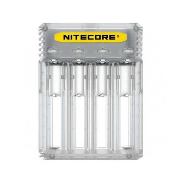 Nitecore New Q4 Charger -Black/Clear - Flavourclouds Discount Vape
