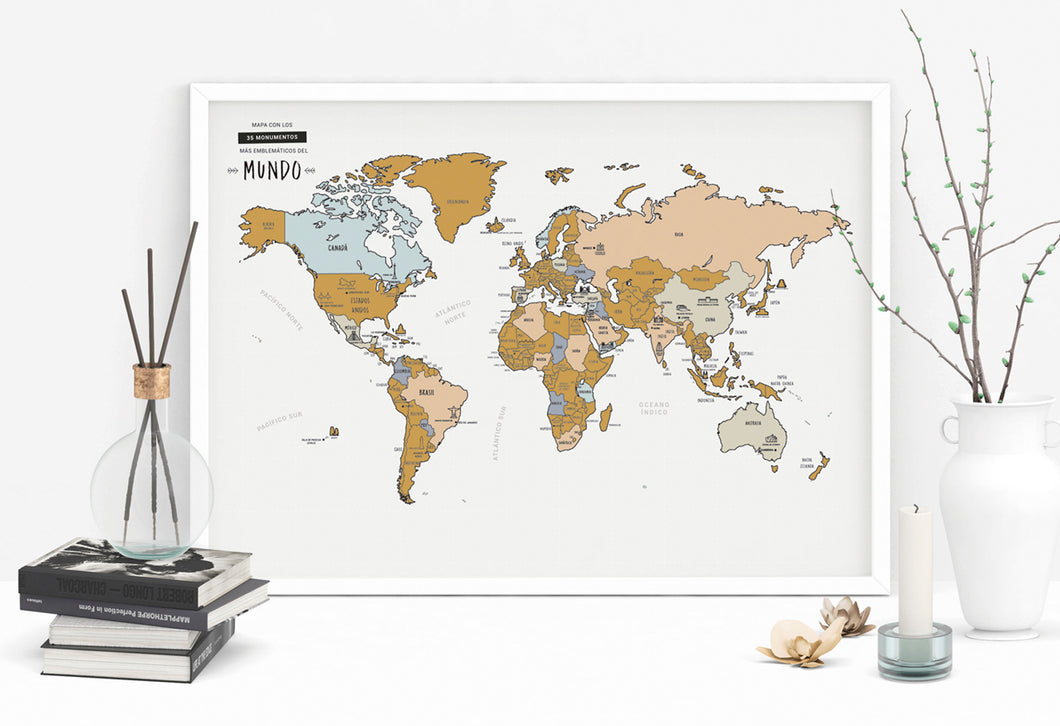 MAPA RASCABLE MUNDO - WORLD