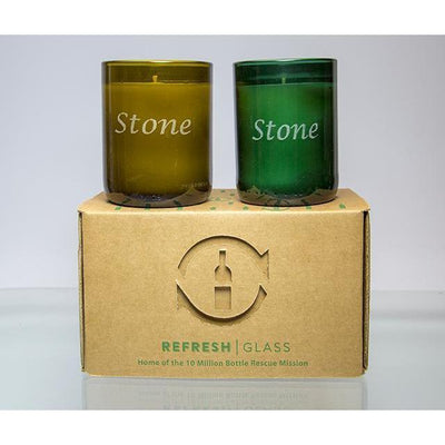 2-Pack Candles - Name-Refresh Glass