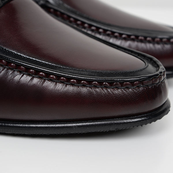 Burgundy/Black Jefferson Moccasins