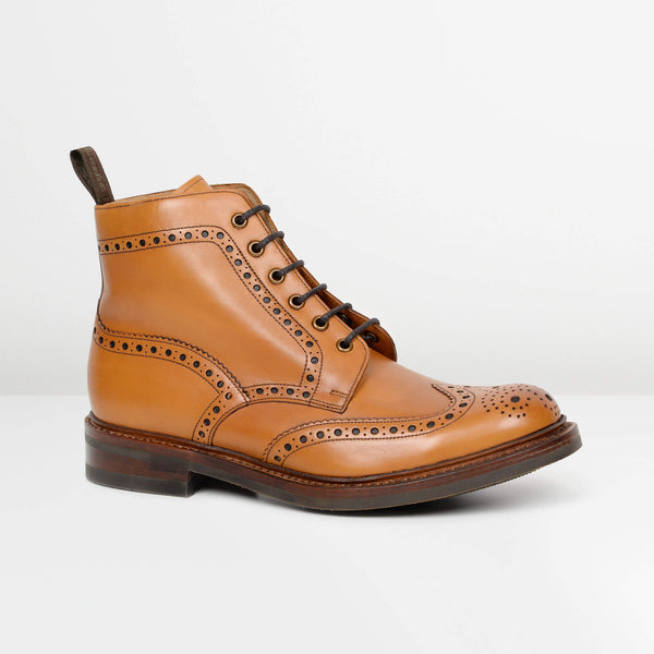 Tan Bedale Derby Brogue Boots