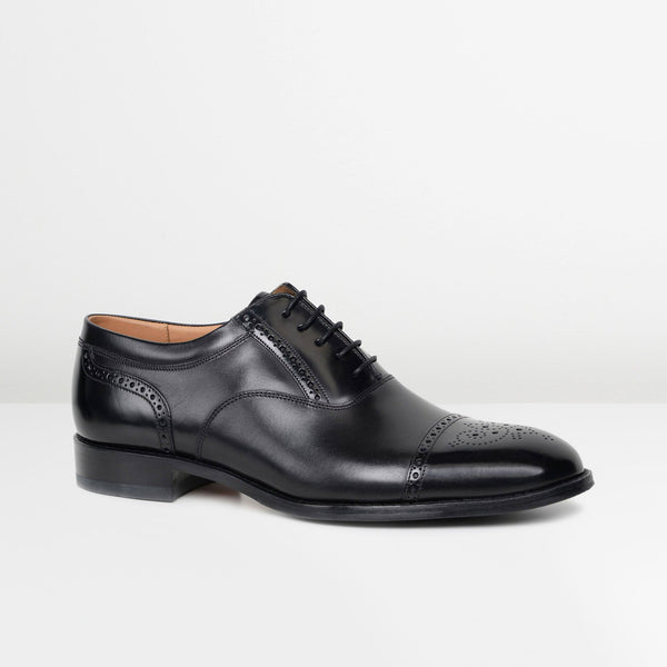 Black Woodstock Oxford Brogues