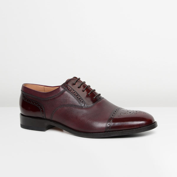 Burgundy Woodstock Oxford Brogues