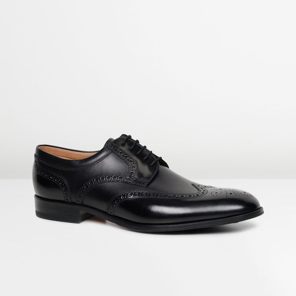 Black Pangbourne Derby Shoes