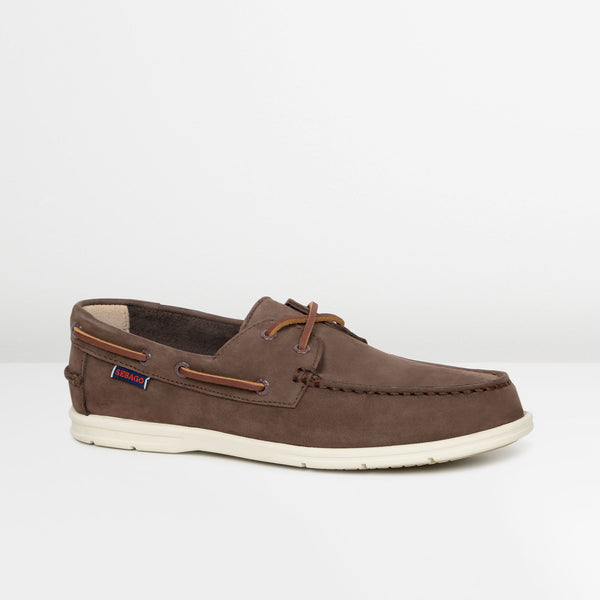 Dark Brown Nubuck Naples Boat Shoes