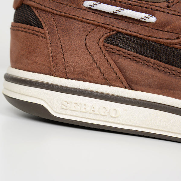 Brown/Dark Brown Nubuck Triton Boat Shoes