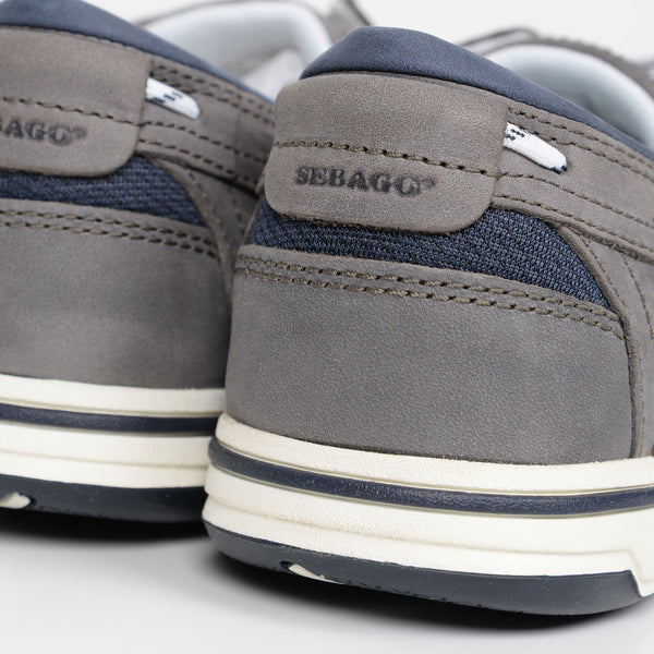 Dark Grey/Navy Nubuck Triton Boat Shoes