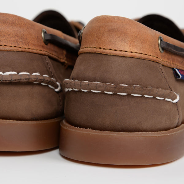 Dark Brown Tan Rookies Boat Shoes
