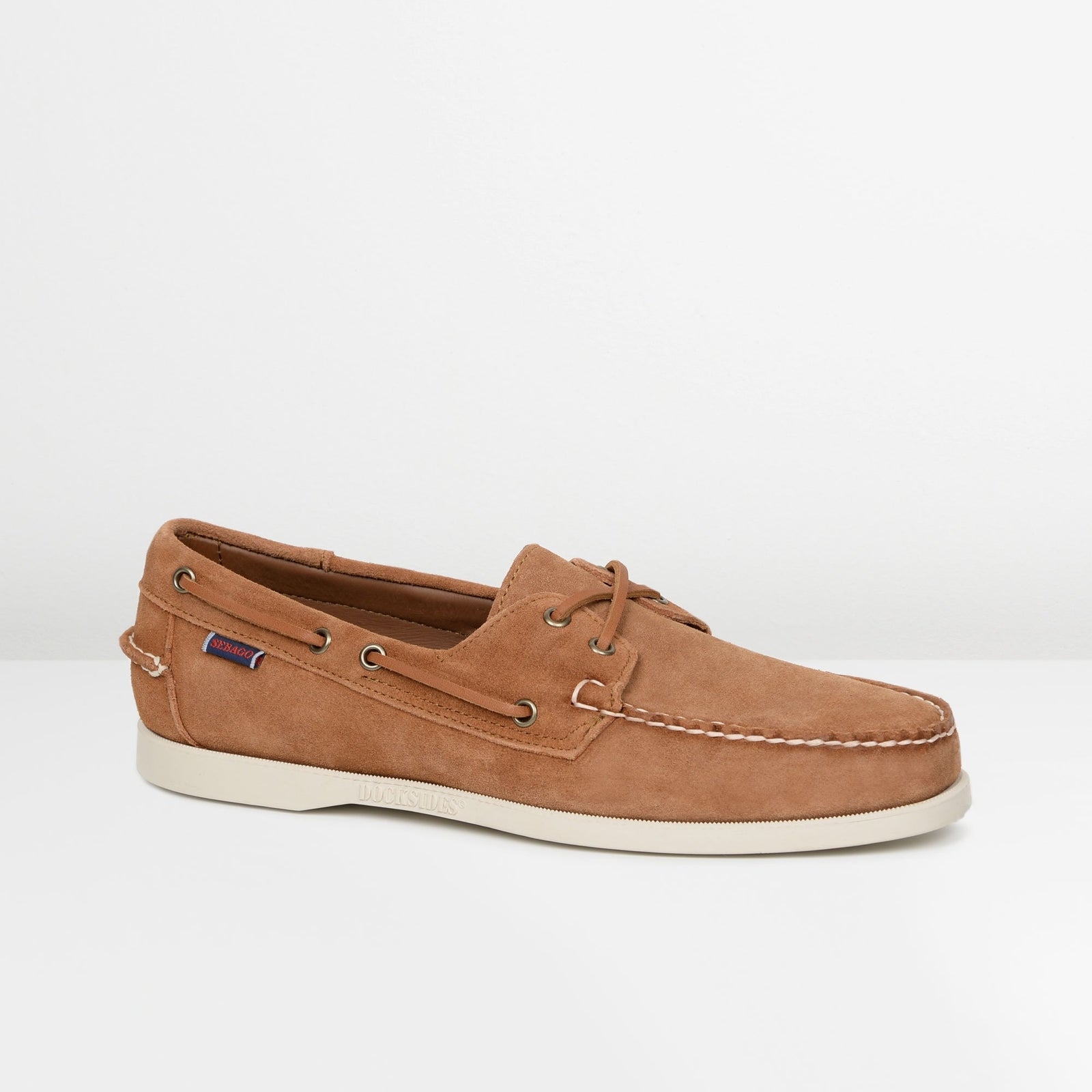 Brown Cognac Suede Portland Boat Shoes