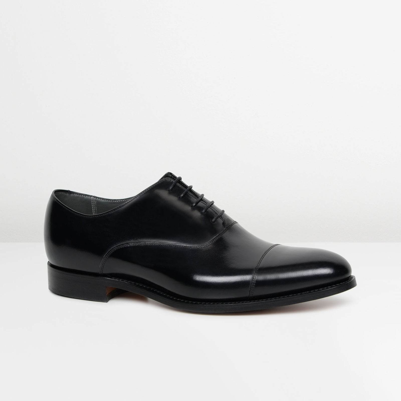 Black Winsford Barker Oxford Shoes from