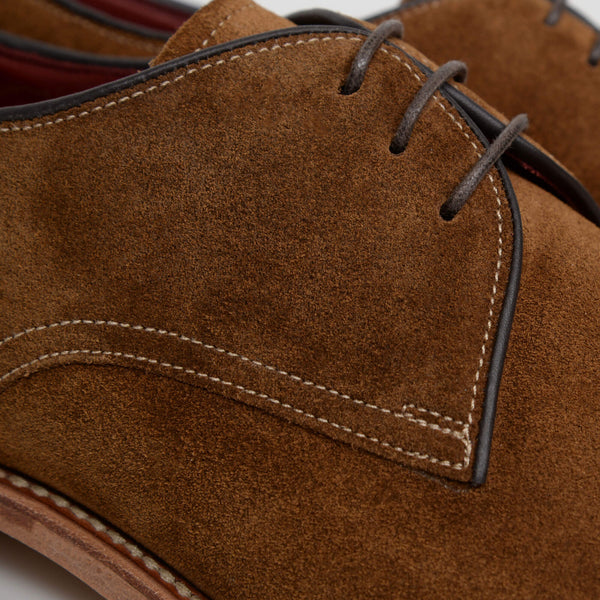 Tan Suede Drake Derby Shoes