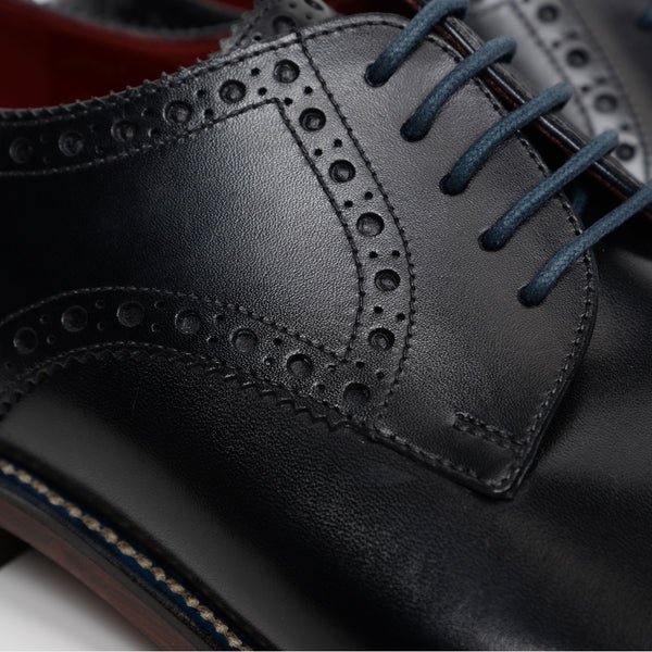 Black Foley Derby Brogues