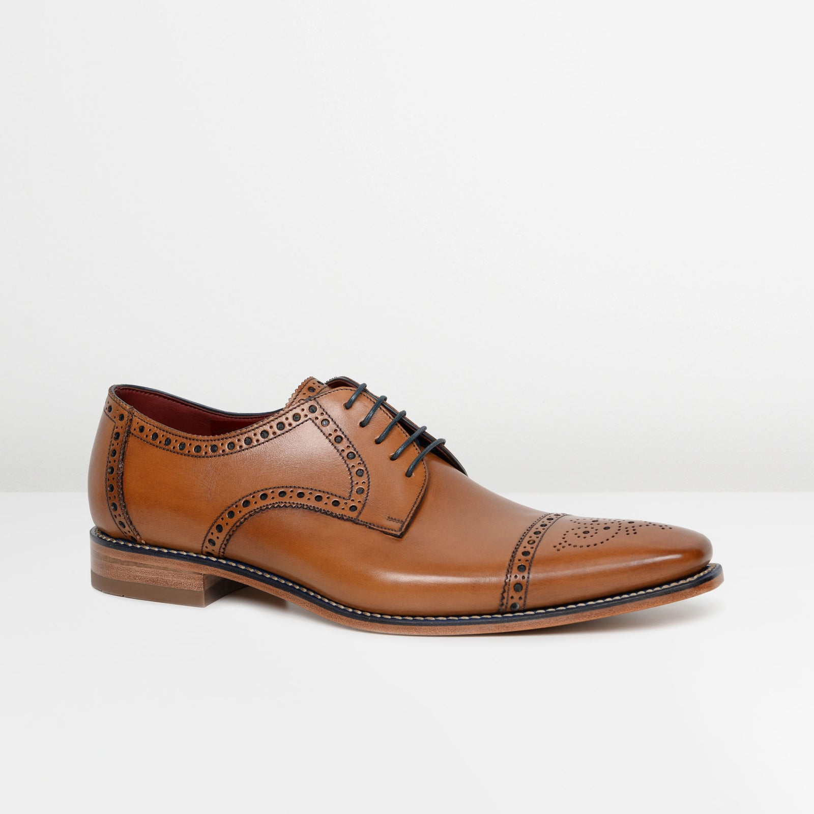 Tan Foley Derby Shoes