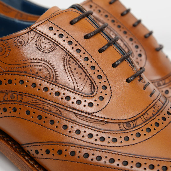 Cedar Leather/Paisley McCLean Oxford Brogues