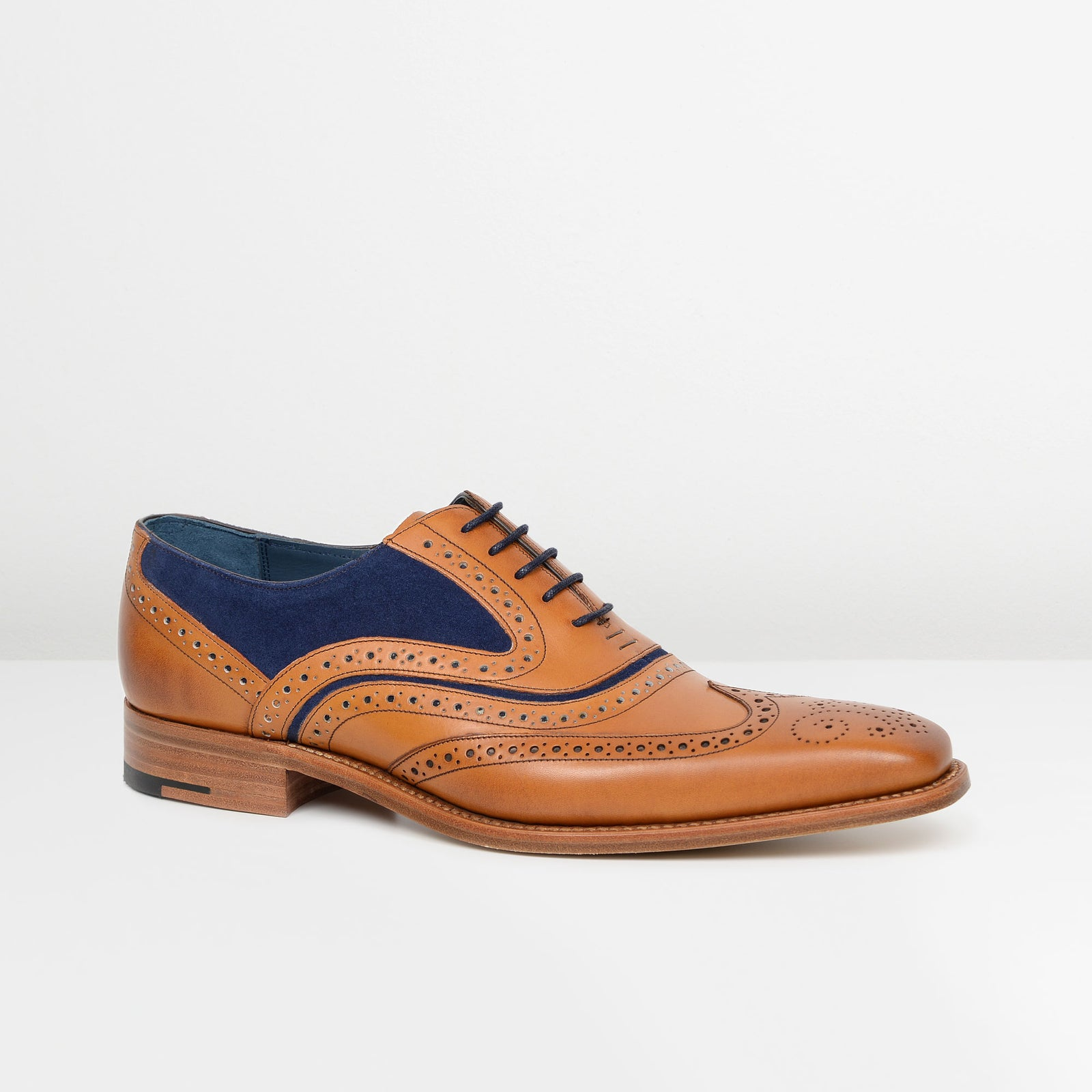 Cedar Leather/Navy Suede McCLean Oxford Brogues