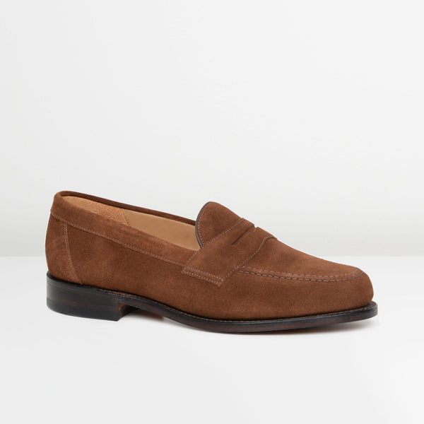 Brown Suede Eton Loafers