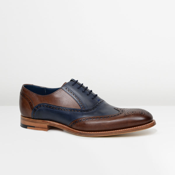 Ebony/Navy Valiant Oxford Brogues