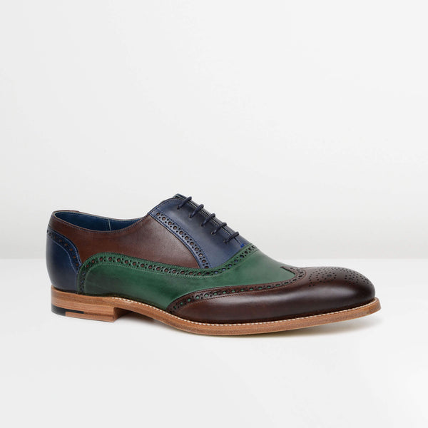 Brown/Green/Blue Valiant Oxford Brogues