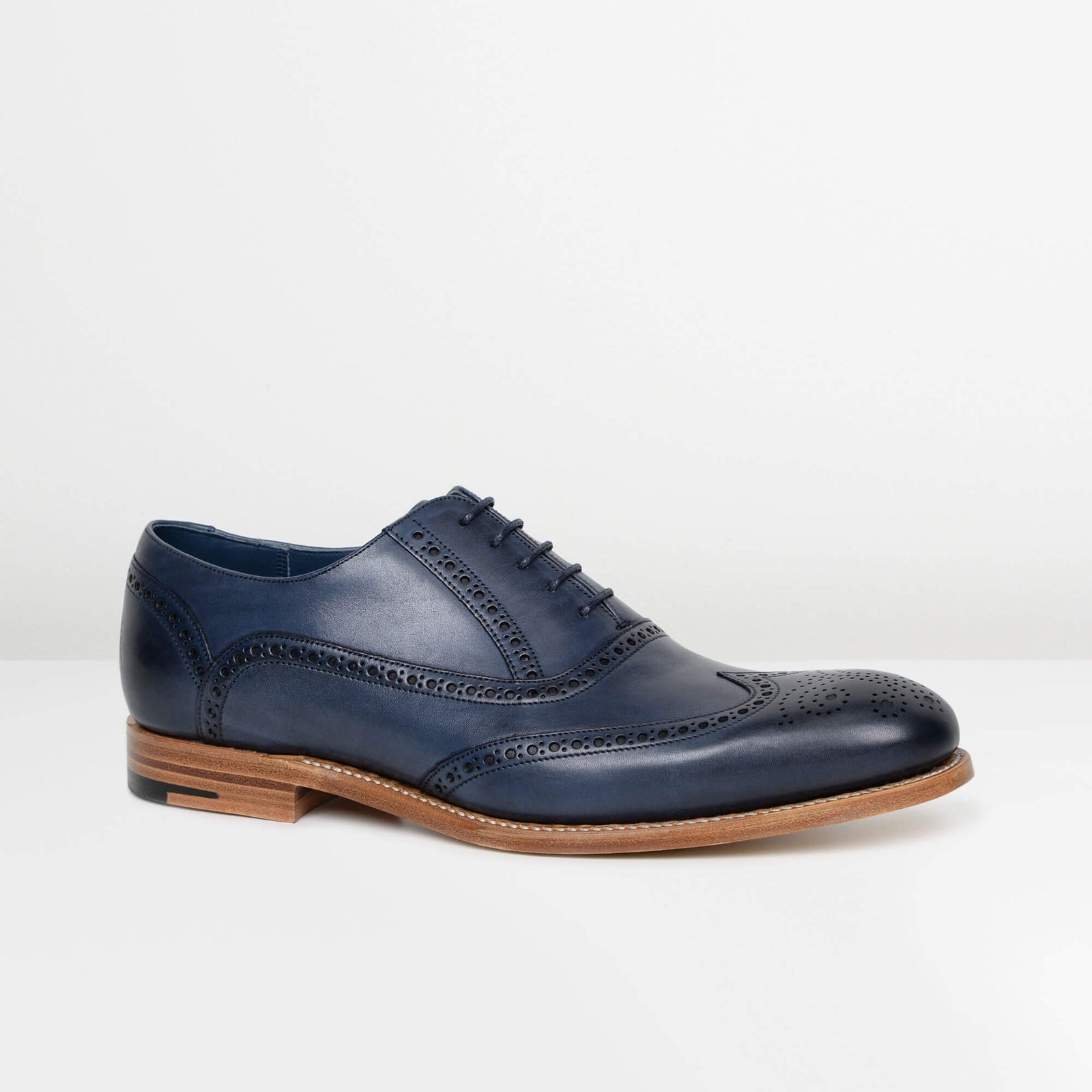 Navy Valiant Oxford Brogues
