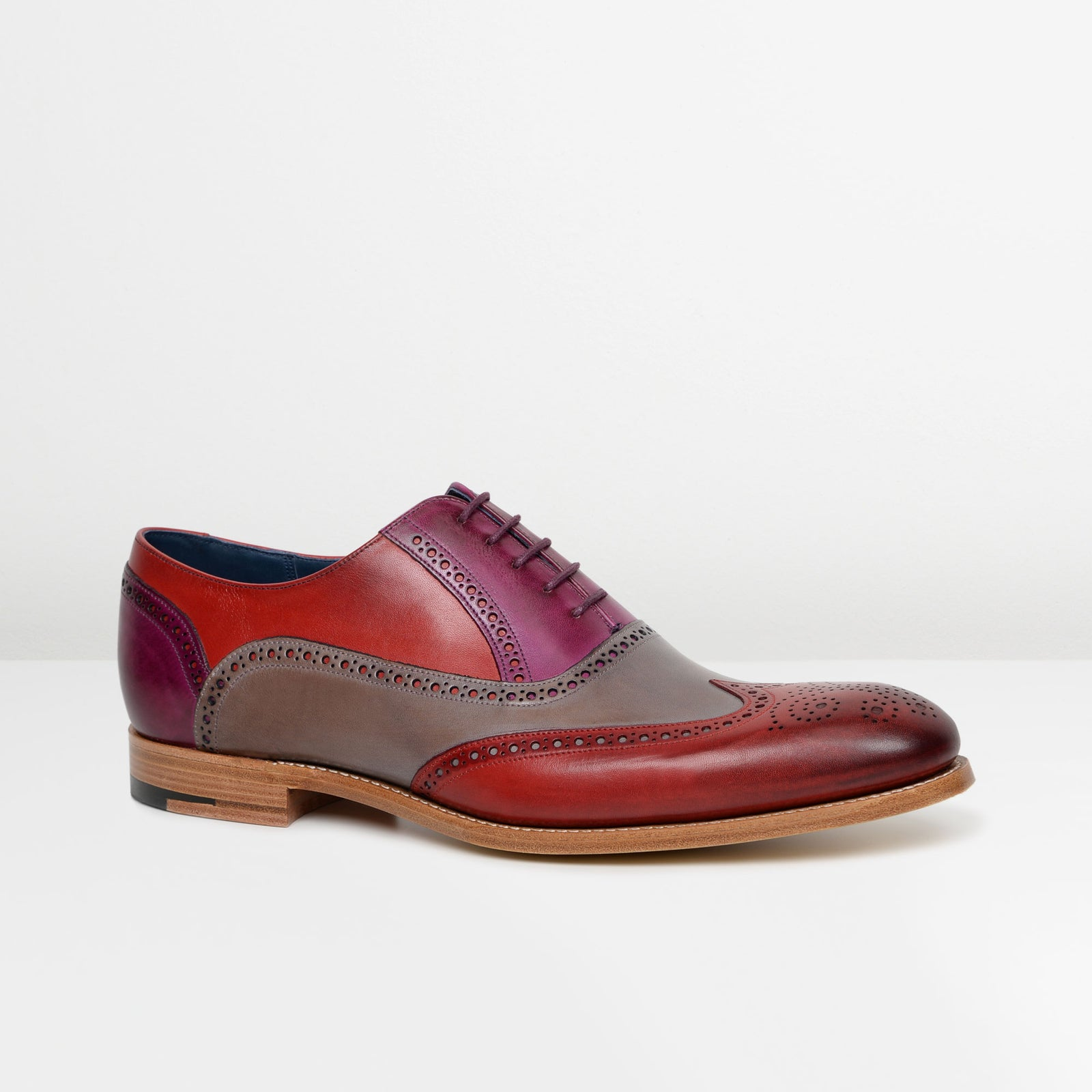 Red/Grey/Purple Valiant Oxford Brogues