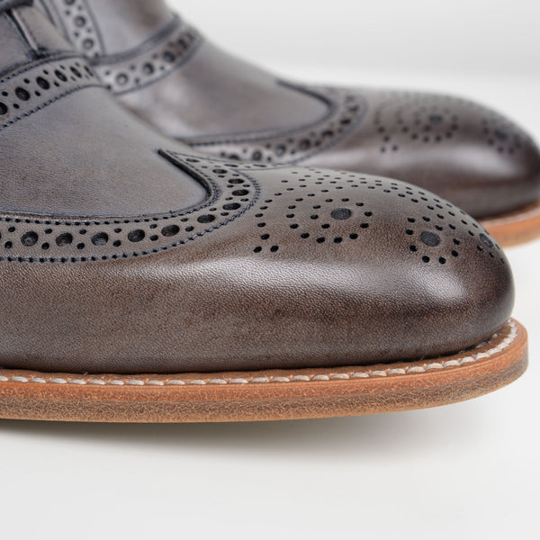 Grey Valiant Oxford Brogues