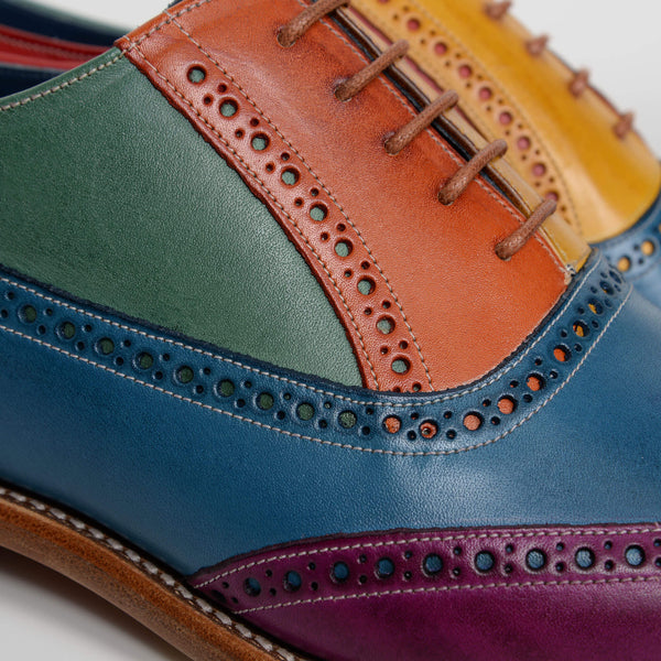 Multi Colour Valiant Oxford Brogues