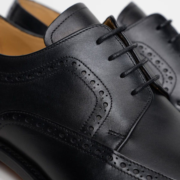 Black Larry Derby Brogues
