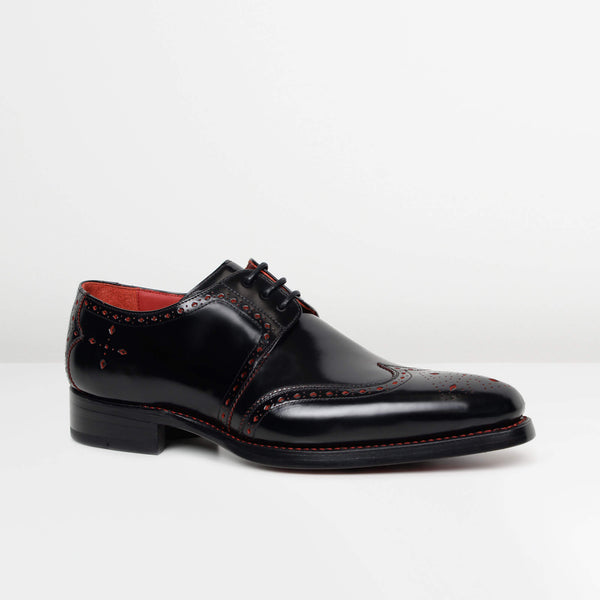 Black Red Stitch Dexter 'Bay' Gibson Brogues