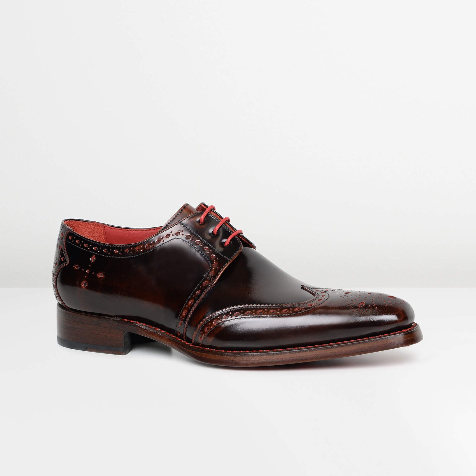 Dark Brown Red Stitch Dexter 'Bay' Gibson Brogues