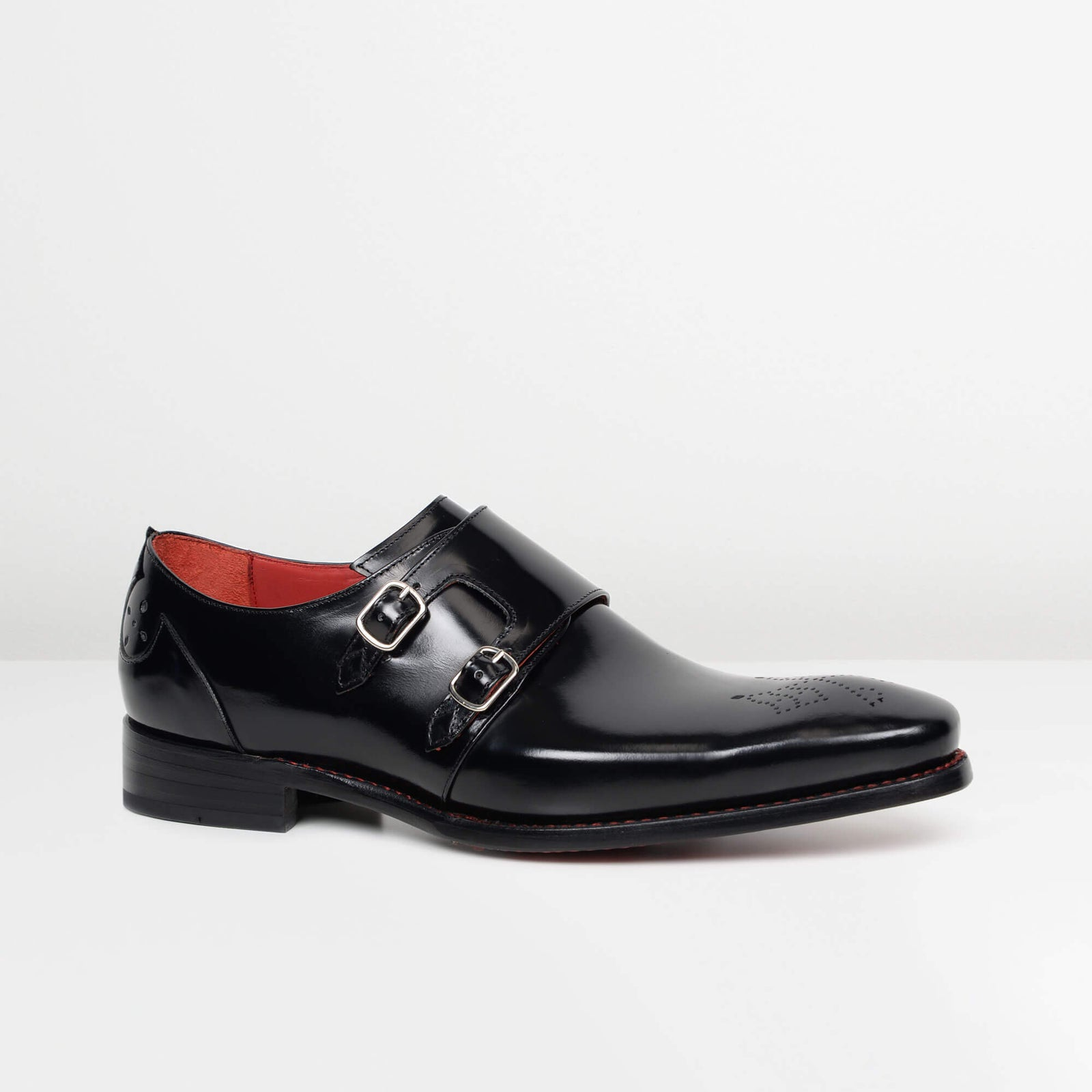 Antique Black Hunger 'Blood' Double Monk Strap Shoes