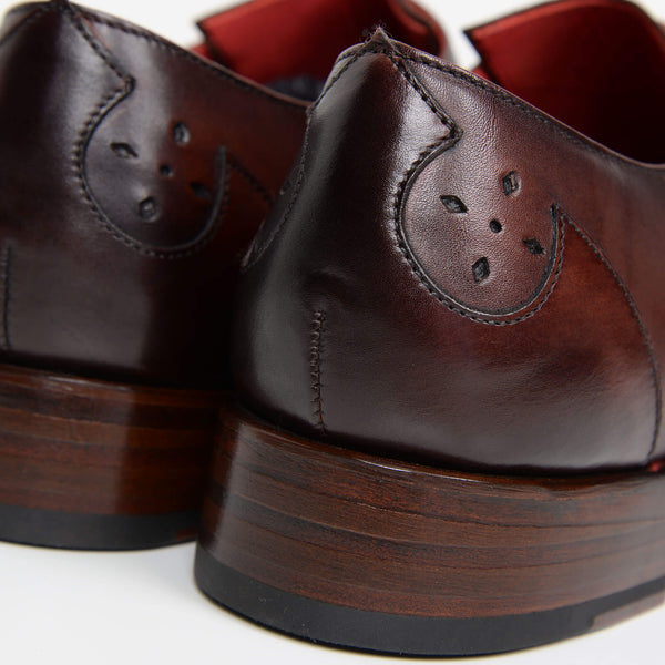 Crust Brown Hunger 'Blood' Double Monk Strap Shoes