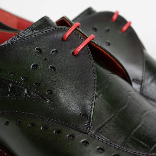 Crust Green Hunger 'Firefly' Tie Gibson Brogues
